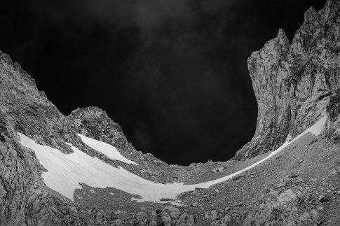 Sky Mountains Black White