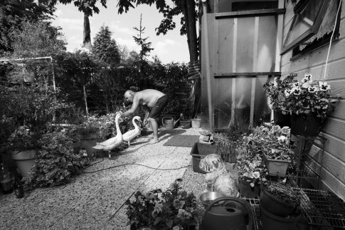 John in the garden - Documentary Photography