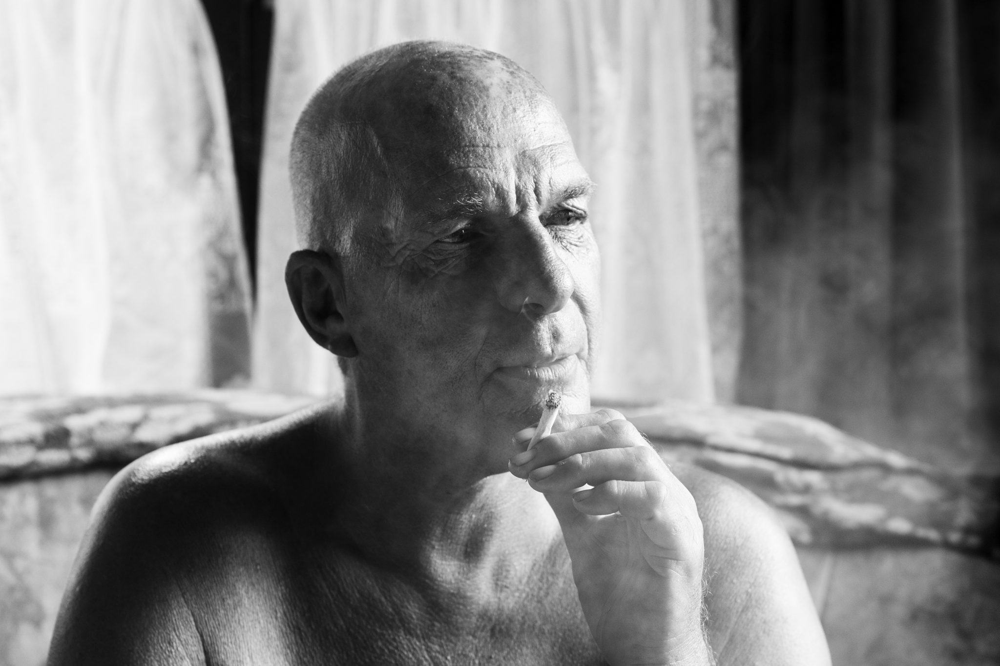 John Smoking - Documentary Photography